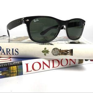 Ray-Ban RB2132 New Wayfarer 55mm Black Sunglasses